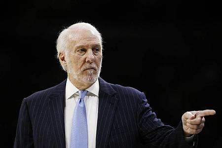 Gregg Popovich, der Trainer der San Antonio Spurs, ist als Trump-Kritiker bekannt. Foto: Matt Slocum/AP/dpa