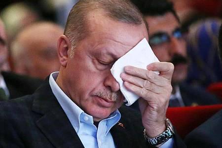 Recep Tayyip Erdogan, Präsident der Türkei, in Bedrängnis wegen eines Mafiabosses?. Foto: -/Presidential Press Service/AP/dpa