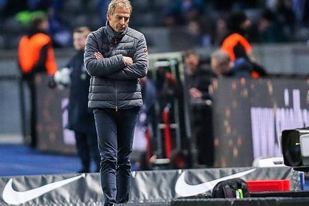 Kurzes Gastspiel: Jürgen Klinsmann war nur elf Wochen Trainer bei Hertha BSC. Foto: Andreas Gora/dpa