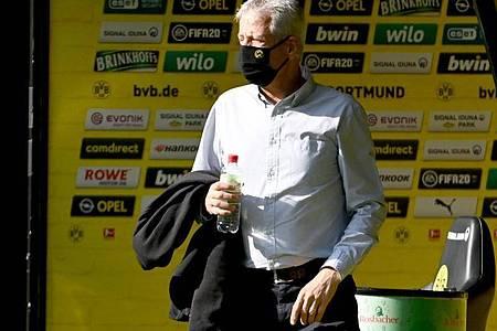 BVB-Coach Lucien Favre hatte mit seinen Äußerungen für Wirbel gesorgt. Foto: Federico Gambarini/dpa-Pool/dpa