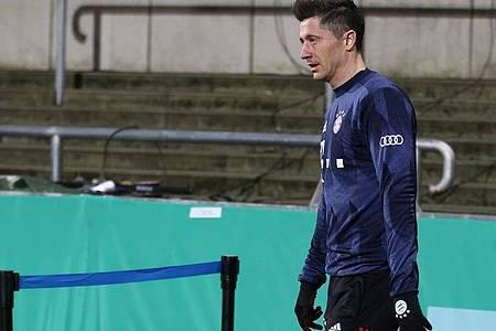 Der FC Bayern München verzichtet in Kiel zunächst auf Robert Lewandowski. Foto: Christian Charisius/dpa