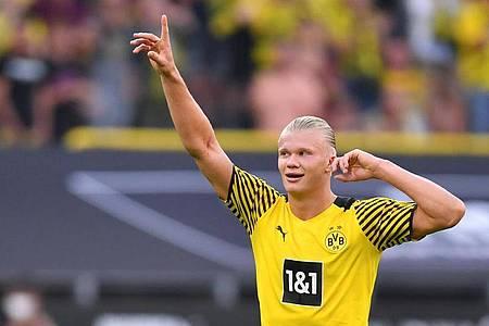 Erling Haaland ist derzeit der überragende Spieler von Borussia Dortmund. Foto: Marius Becker/dpa