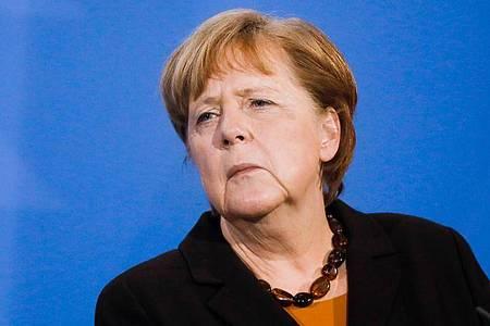 Bundeskanzlerin Angela Merkel Ende März bei einer Pressekonferenz im Kanzleramt. Foto: Markus Schreiber/AP POOL/dpa