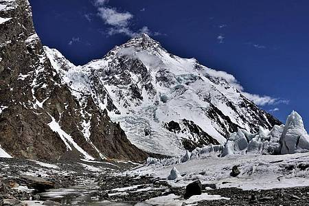 Der 8611 Meter hohe K2 in Pakistan ist der zweithöchste Berg der Welt und gilt als extrem schwierig. Foto: --/Anja Blacha/dpa