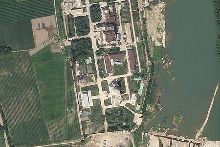 Auf diesem von Planet Labs Inc. veröffentlichten Satellitenfoto ist der Nuklearkomplex in Yongbyon zu sehen. Foto: Planet Labs Inc./Planet Labs Inc./AP/dpa