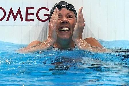 Verena Schott errang über 100 Meter Rücken, 200 Meter Lagen und 100 Meter Brust Bronze. Foto: Marcus Brandt/dpa