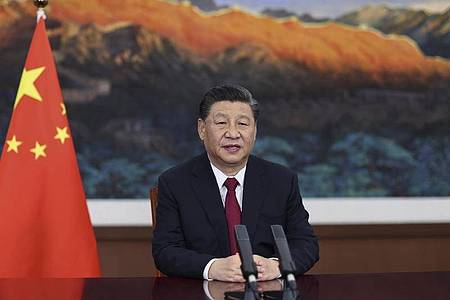 Chinas Parteichef Xi Jinping telefonierte mit US-Präsident Biden. Foto: Ju Peng/Xinhua/AP/dpa