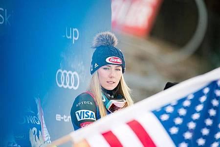 Verpasst den Saisonauftakt in Sölden: Ski-Star Mikaela Shiffrin. Foto: Expa/Michael Gruber/APA/dpa