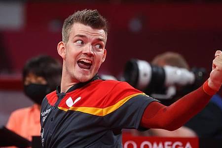 Thomas Schmidberger gewann sowohl im Einzel als auch mit dem Team Silber. Foto: Karl-Josef Hildenbrand/dpa