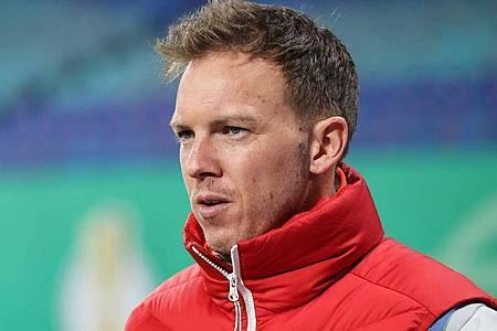 Leipzigs Trainer Julian Nagelsmann stellt klar, wenn man in Bielefeld nicht gewinne, «gibt es gegen Bayern keinen großen Showdown». Foto: Jan Woitas/dpa-Zentralbild/dpa