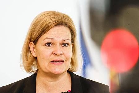 Die hessische SPD-Vorsitzende Nancy Faeser. Foto: Andreas Arnold/dpa
