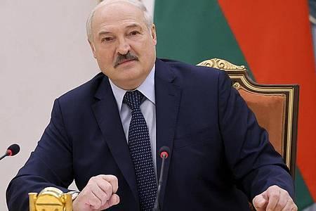 Die USA fordern Alexander Lukaschenko auf, eine internationale Untersuchung des Vorfalls zuzulassen. Foto: Sergei Shelega/BelTA/AP/dpa