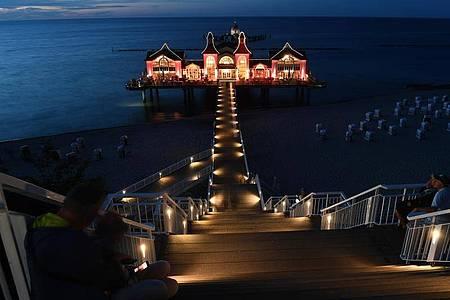 Die Seebrücke im Ostseebad Sellin. Foto: Stefan Sauer/dpa-Zentralbild/dpa