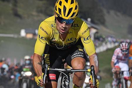 Für den Gesamtführenden Primoz Roglic droht auf der 19. Etappe keine Gefahr. Foto: David Stockman/BELGA/dpa