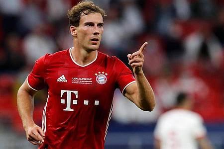 Freut sich auf das Spiel gegen den VfL Bochum: Bayern Münchens Leon Goretzka. Foto: Bernadett Szabo/Pool Reuters/AP/dpa