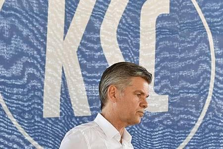Gibt sein Amt als KSC-Präsident ab: Ingo Wellenreuther. Foto: Thomas Kienzle/dpa