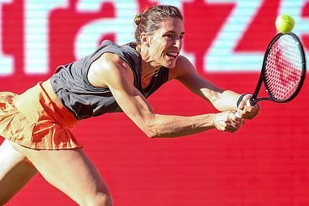Hatte gegen die zweimalige Wimbledonsiegerin Petra Kvitova das Nachsehen: Andrea Petkovic. Foto: Andreas Gora/dpa