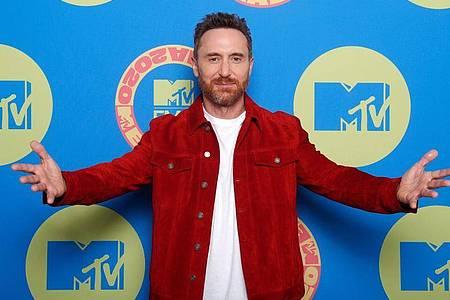 DJ David Guetta bei den MTV European Music Awards 2020 in Budapest. Foto: Laszlo Balogh/PA Media/dpa