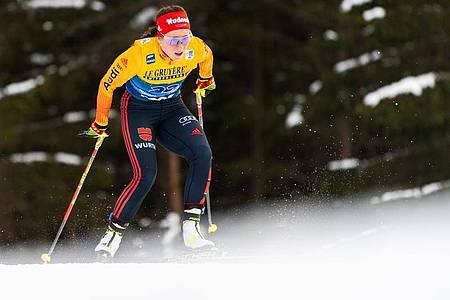 Katharina Hennig wurde Zweite imMassenstart über zehn Kilometer. Foto: Mathias Bergeld/Bildbyran via ZUMA Press/dpa