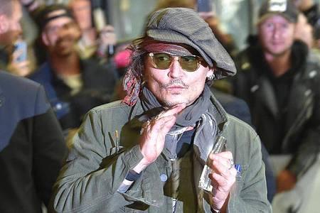 Johnny Depp beim Internationalen Karlsbader Filmfestival. Foto: Kubeš Slavomír/CTK/dpa