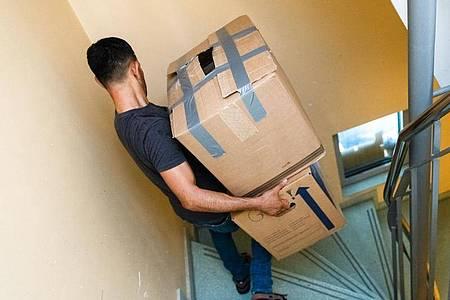 Wer Lasten schleppt, sollte sie möglichst nah am Körper tragen und ruckartige Bewegungen vermeiden. Foto: Markus Scholz/dpa-tmn