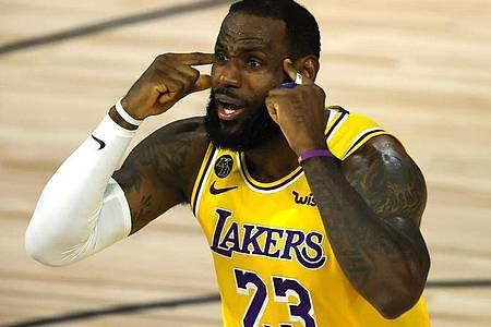 LeBron James von den Los Angeles Lakers ist der Superstar der NBA. Foto: Kevin C. Cox/Pool Getty Images/AP/dpa