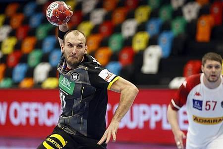 Zeigte gegen Österreich eine starke Partie im DHB-Team: Marcel Schiller. Foto: Erwin Scheriau/APA/dpa