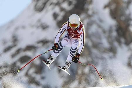 Wurde in Val D`isere Elfte in der Abfahrt: Kira Weidle. Foto: Gabriele Facciotti/AP/dpa