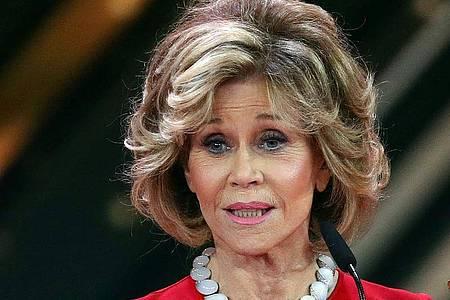 Schauspielerin Jane Fonda hat sich impfen lassen. Foto: Christian Charisius/dpa /dpa