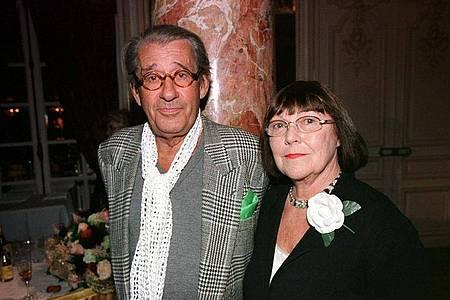 Star-Fotograf Helmut Newton und seine Ehefrau June (2001). Foto: Fotoreport/Laureus Pool/ dpa/dpa