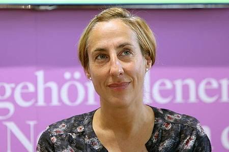 Die Autorin Judith Hermann 2014 auf der Buchmesse in Frankfurt/Main. Foto: Susannah V. Vergau/dpa