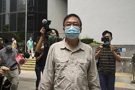 Der pro-demokratische Aktivist Cheung Man-kwong hat eine Bewährungsstrafe erhalten.. Foto: Kin Cheung/AP/dpa