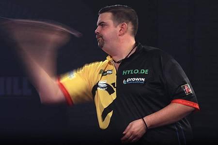 Gabriel Clemens trifft in der dritten Runde auf Weltmeister Peter Wright. Foto: Adam Davy/PA Wire/dpa