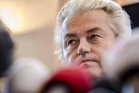 Geert Wilders hatte das Beleidigungsverfahren als politischen Prozess bezeichnet und sich auf die Meinungsfreiheit berufen. (Archivaufnahme). Foto: Geert Vanden Wijngaert/AP/dpa