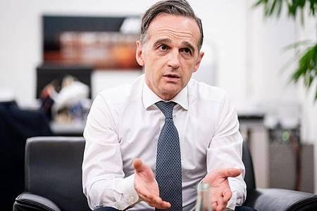 Heiko Maas zieht insgesamt eine positive Bilanz des deutschen EU-Vorsitzes im vergangenen halben Jahr. Foto: Kay Nietfeld/dpa