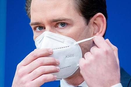 Österreichs Bundeskanzler Sebastian Kurz in Wien. Foto: Georg Hochmuth/APA/dpa