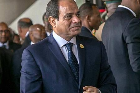 Der ägyptische Präsident Abdel Fattah al-Sisi bei einem Gipfeltreffen der Afrikanischen Union im Jahr 2017. Foto: Mulugeta Ayene/AP/dpa/Archivbild