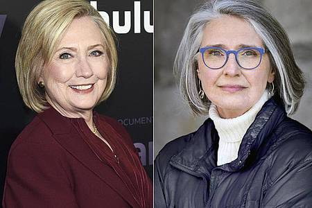 Hillary Clinton (l) hat zusammen mit Louise Penny einen Thriller geschrieben. Foto: Uncredited/AP/Jean-Francois Bérubé/AP/dpa