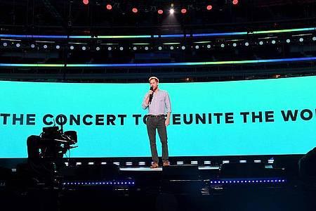 Der britische Prinz Harry beim Wohltätigkeitskonzert «Vax Live: The Concert to Reunite the World». Foto: Kevin Mazur/Global Citizen Vax L/PA Media/dpa