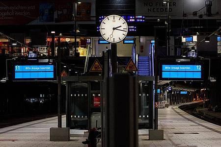 Ein bundesweiter Lokführer-Streik im Personenverkehr hat begonnen. Foto: Georg Wendt/dpa