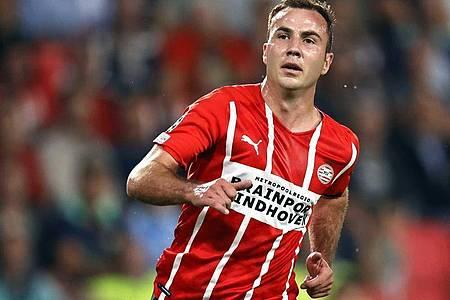 Mario Götze verlängerte seinen Vertrag bei der PSV Eindhoven. Foto: Maurice Van Steen/ANP/dpa