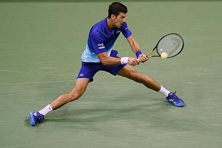 Novak Djokovic in Aktion bei den US Open. Foto: Frank Franklin II/AP/dpa