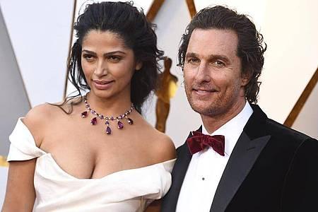 Matthew McConaughey und Camila Alves McConaughey haben drei gemeinsame Kinder. Foto: Jordan Strauss/Invision/AP/dpa