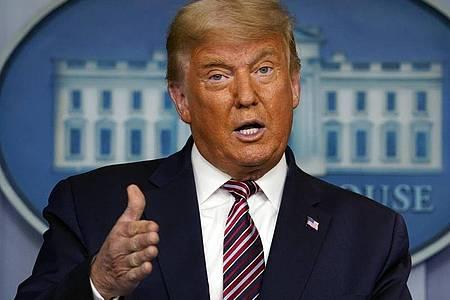 «Wie alle Amerikaner bin ich empört über die Gewalt, Gesetzlosigkeit und das Chaos», sagt US-Präsident Trump. Foto: Evan Vucci/AP/dpa/Archiv