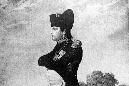 Kaiser Napoleon I. in der Uniform eines Obersten seiner Gardejäger auf einem undatierten, zeitgenössischen Stich. Foto: --/dpa