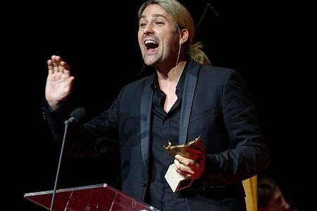 David Garrett bei der Verleihung der Europäischen Kulturpreise. Foto: Henning Kaiser/dpa