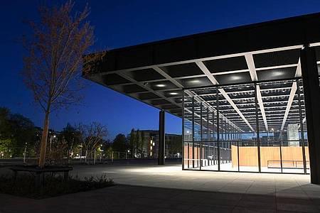 Ein Klassiker der Moderne - die Neue Nationalgalerie von Mies van der Rohe. Foto: Jens Kalaene/dpa-Zentralbild/dpa