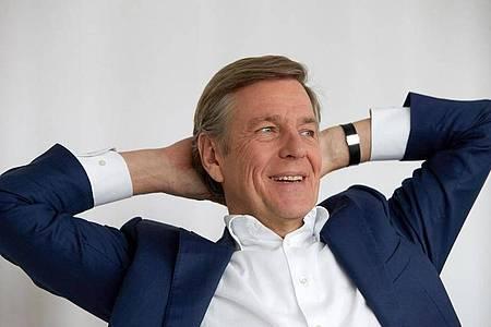 Der «heute-journal»-Moderator Claus Kleber im ZDF-«heute»-Studio. Foto: picture alliance / Thomas Frey/dpa