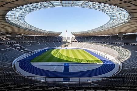 Das Berliner Derby zwischen Hertha und Union findet am Freitagabend statt. Foto: Andreas Gora/dpa