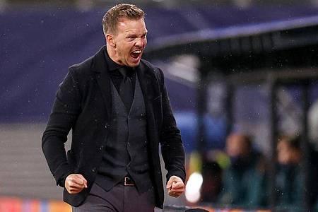 Leipzigs Trainer Julian Nagelsmann gewinnt mit RB das wichtige Auftaktspiel in der Champions League. Foto: Jan Woitas/dpa-Zentralbild/dpa